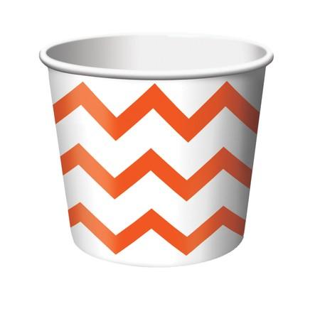 Κύπελλο Παγωτού Chevron Πορτοκαλί 266ml 6τεμ