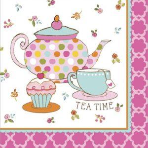 Xαρτοπετσέτες Φαγητού  Tea Time 32.7 x 32.3cm 16τεμ