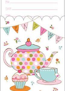 Προσκλήσεις Tea Time 8τεμ