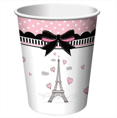 Ποτήρια χάρτινα 266ml Party in Paris 8τεμ.