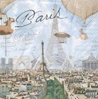 """Χαρτοπετσέτες ντεκουπάζ """"Old Paris"""""""