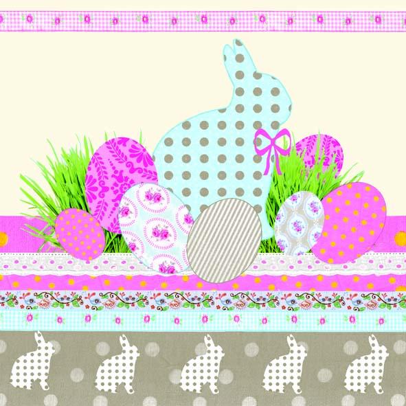 Χαρτοπετσέτες Φαγητού A Touch Of Easter Cream 33x33 cm 20τεμ.