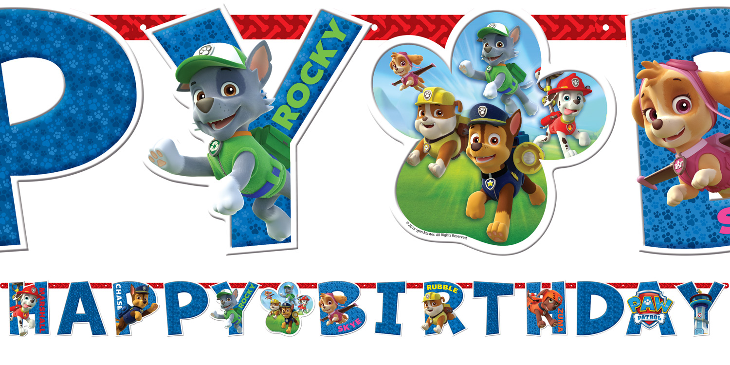 Happy Birthday Banner 18u Paw Patrol 1u