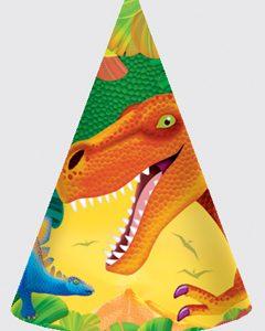 Χάρτινα καπελάκια Δεινόσαυροι 8τεμ.