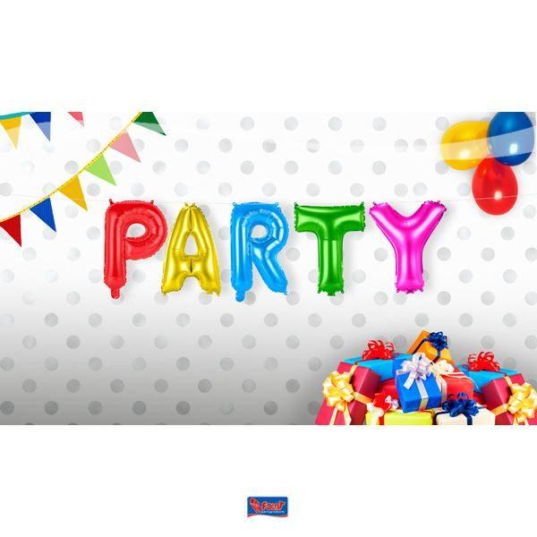 Μπαλόνι Foil πολυχρωμο PARTY! 1 τεμ.