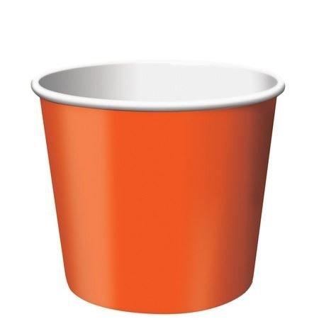Κύπελλο Παγωτού Πορτοκαλί 266ml 6τεμ
