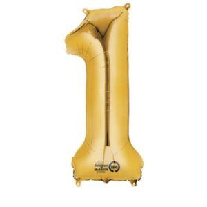Μπαλόνι foil χρυσό ύψος 40εκ. Νο 1