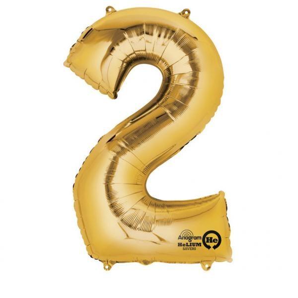 Μπαλόνι foil χρυσό ύψος 40εκ. Νο 2