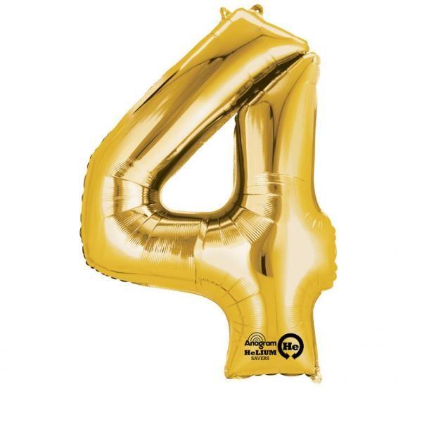 Μπαλόνι foil χρυσό ύψος 40εκ. Νο 4