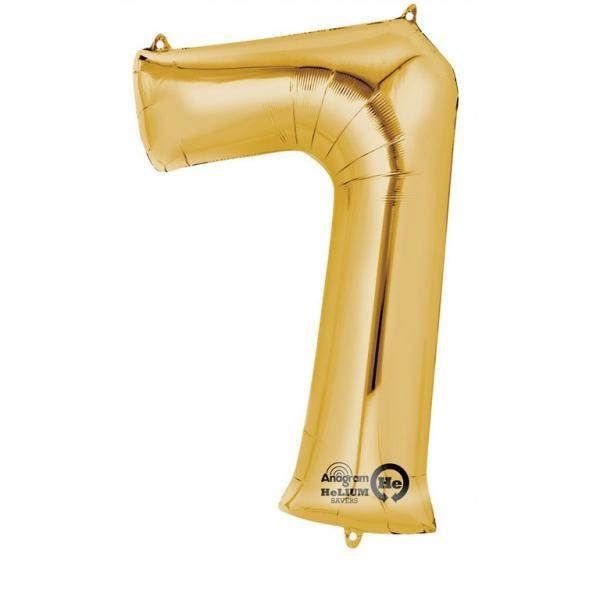 Μπαλόνι foil χρυσό ύψος 40εκ. Νο 7