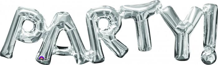 Μπαλόνι Foil ασημί PARTY! 1 τεμ.