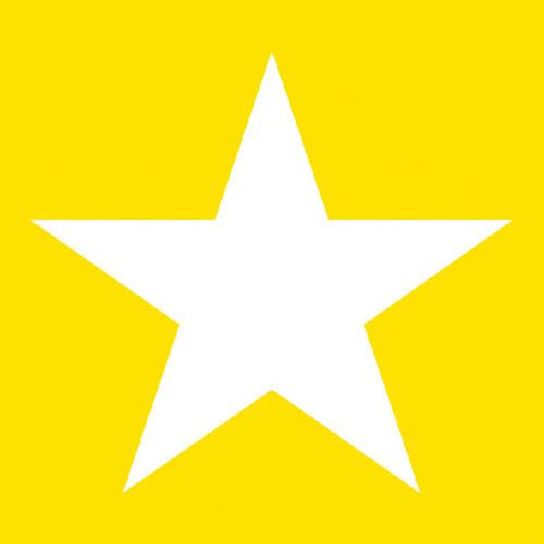 Χαρτοπετσέτες Φαγητού Star Yellow 33x33 cm 20τεμ.