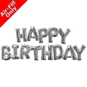 Μπαλόνι Foil ασημί HAPPY BIRTHDAY 1 τεμ.
