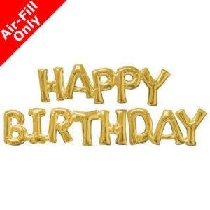 Μπαλόνι Foil χρυσό HAPPY BIRTHDAY 1 τεμ.