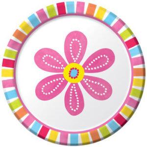 Πιάτα Γλυκού Pink Flower Cheer 17,4cm 8τεμ.