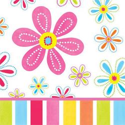 Χαρτοπετσέτες Φαγητού Pink Flower Cheer 32.7x32.3cm 16τεμ.