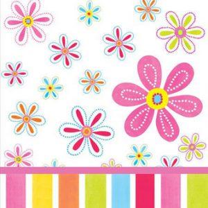 Τραπεζομάντηλο Πλαστικό Pink Flower Cheer 1,37x2.74cm 1τεμ.