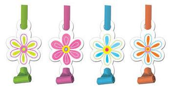 Αναπτυσσόμενες Σφυρίχτρες Pink Flower Cheer  8τεμ.
