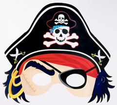 Πειρατική μάσκα με καπέλο