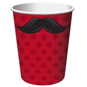 Χάρτινο Ποτήρι Mustache Μadness 8τεμ