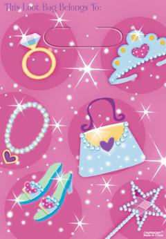 Σακούλα πλαστική δώρου Princess