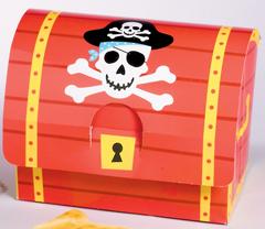 Κουτί χάρτινο Πειρατικός θησαυρός σεντούκι 8τεμ.
