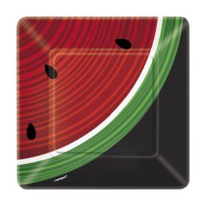 Πιάτα γλυκού 18εκ. watermelon checκ 8τεμ.