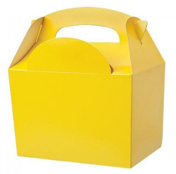 Χάρτινο Lunch box κίτρινο 8τεμ. 10x15x16εκ.