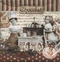 """Χαρτοπετσέτες ντεκουπάζ """"Chocolat"""""""