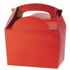 Χάρτινο Lunch box κόκκινο 8τεμ. 10x15x16εκ.