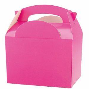 Χάρτινο Lunch box φούξια 8τεμ. 10x15x16εκ.