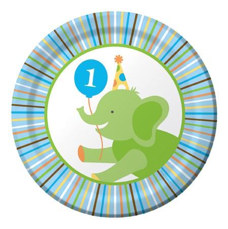 Πιάτα Γλυκού 1st Birthday Sweet at one boy 8τεμ