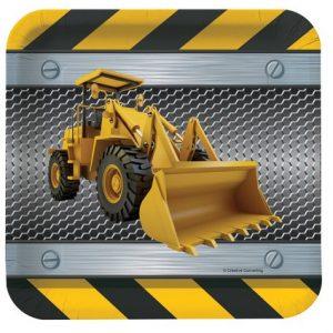 Πιάτα Γλυκού Construction Birthday Zone 8τεμ
