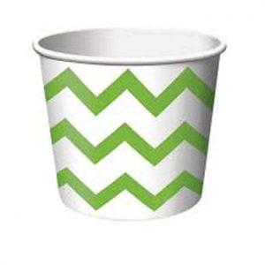 Κύπελλο Παγωτού Chevron Πράσινο 266ml 6τεμ
