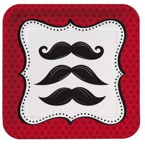 Πιάτα Γλυκού Χάρτινα Mustache Μadness 8τεμ