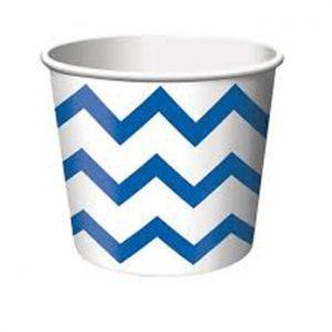 Κύπελλο Παγωτού Chevron Μπλε 266ml 6τεμ