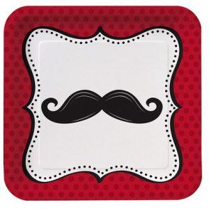 Πιάτα Φαγητού Χάρτινα Mustache Μadness 8τεμ