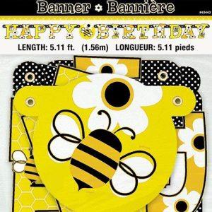 Banner Happy Birthday 1,5μ Μελισσούλες