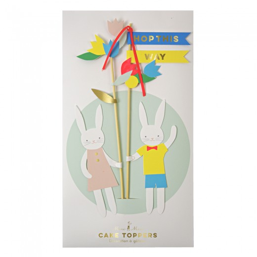 Easter cake toppers Easter Bunny 2τεμ.