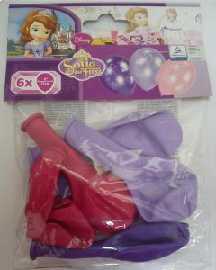 Μπαλόνια λάτεξ Πριγκίπισσα ΣΟΦΙΑ 6τεμ.
