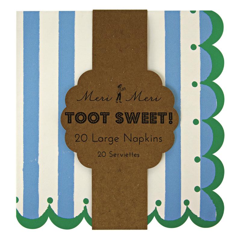 Toot Sweet Blue Stripe Χαρτοπετσέτες Φαγητού 20τεμ.