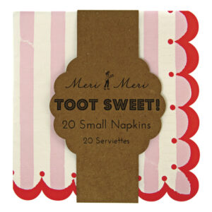 Toot Sweet Pink Stripe Χαρτοπετσέτες Γλυκού 20τεμ.