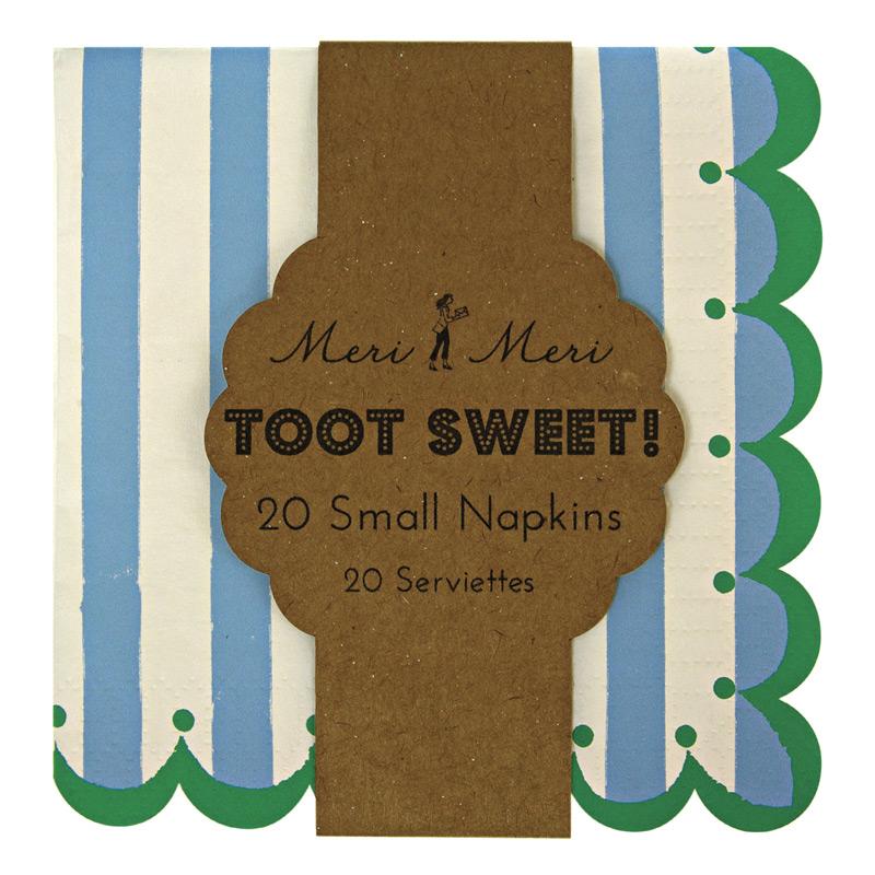 Toot Sweet Blue Stripe Χαρτοπετσέτες Γλυκού 20τεμ.