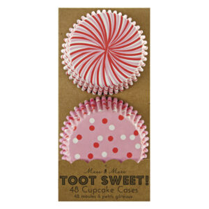 Toot Sweet Pink Stripe and Dots Θήκες για Cupcakes 24τεμ Χ 2 σχέδια