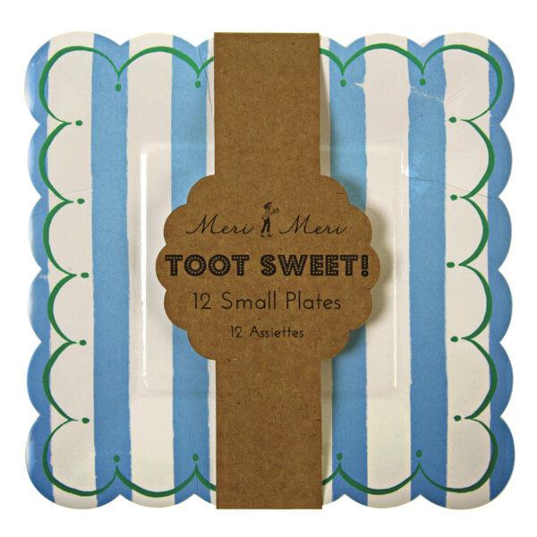 Πιάτα γλυκού Toot Sweet Blue Stripe 12τεμ.