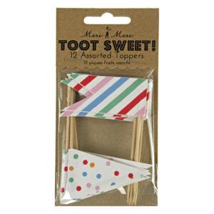 Toot Sweet Cake / cupcake Toppers 12τεμ.