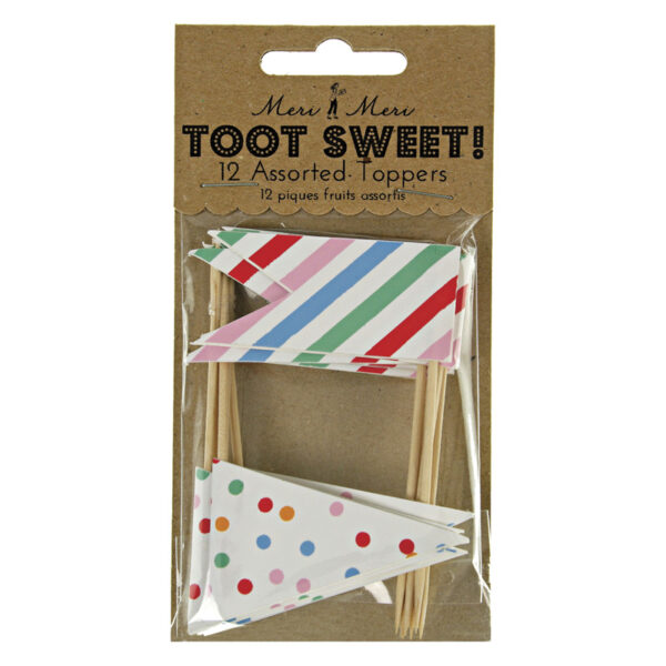 Toot Sweet Cake / cupcake Toppers 12τεμ.