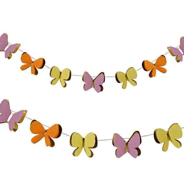 Γιρλάντα Διακοσμητική με Πεταλούδες 3m.