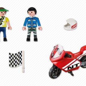 Αγόρια με αγωνιστική μοτοσυκλέτα