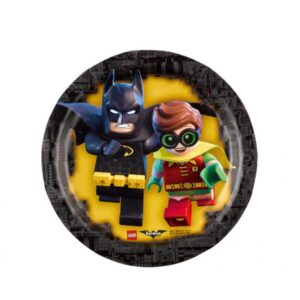 Πιάτα γλυκού 18εκ. Lego Batman 8τεμ.